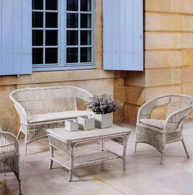 Armchair Tais, Ethnic braided armchair for outdoor use