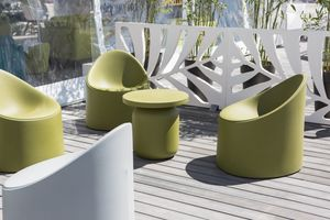 Bay, Polyethylene armchair, with rounded shapes