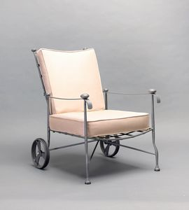 INTRECCIO GF4004AR, Armchair with wheels for outdoor use