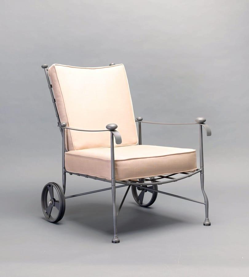 INTRECCIO GF4004AR, Armchair with wheels for outdoor use