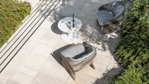 Maat poltrona lounge, Lounge armchair with wide seat, for outdoor
