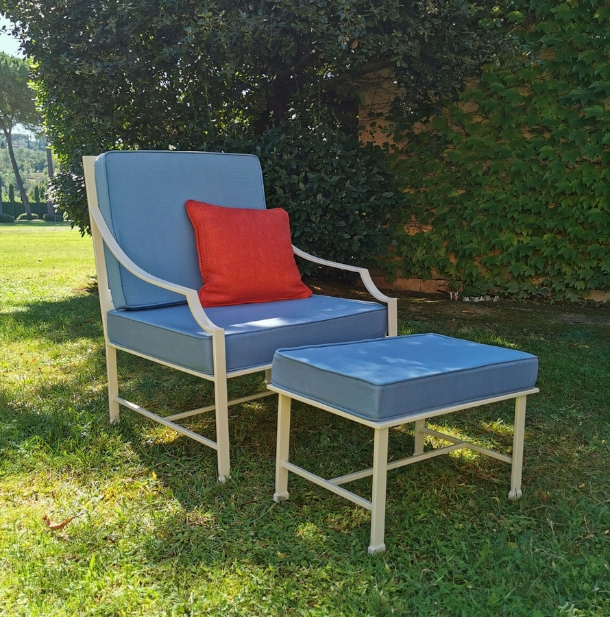 PERENNIAL GF4025AR, Outdoor armchair, with water-repellent cushions