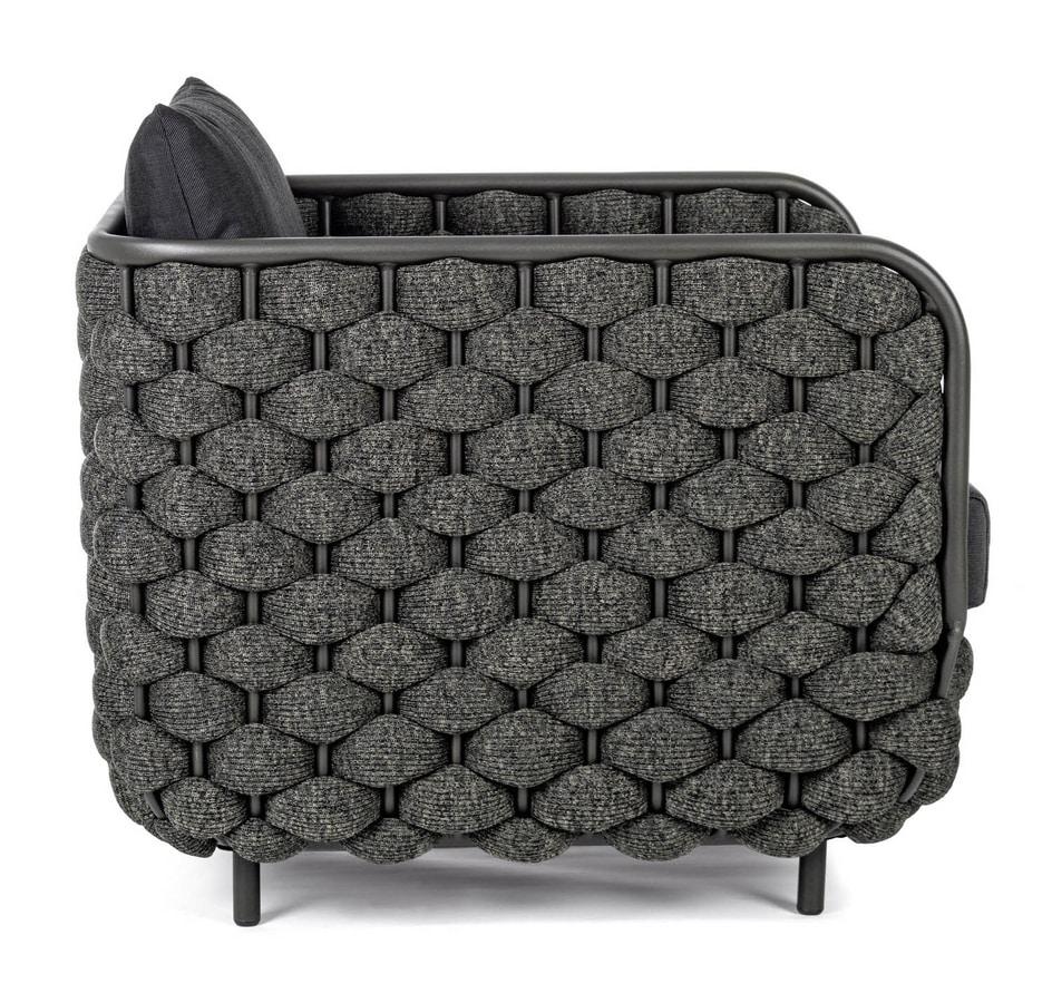 SALINAS PL, Woven armchair for outdoor