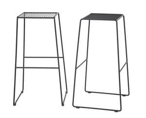 Art.Easy 2, Barstool in powder coated steel, cantilever base, external