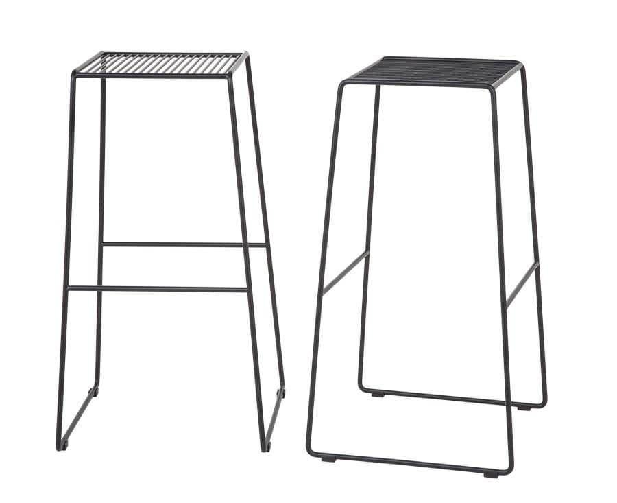 Art.Easy 2, Barstool in powder coated steel, cantilever base, external