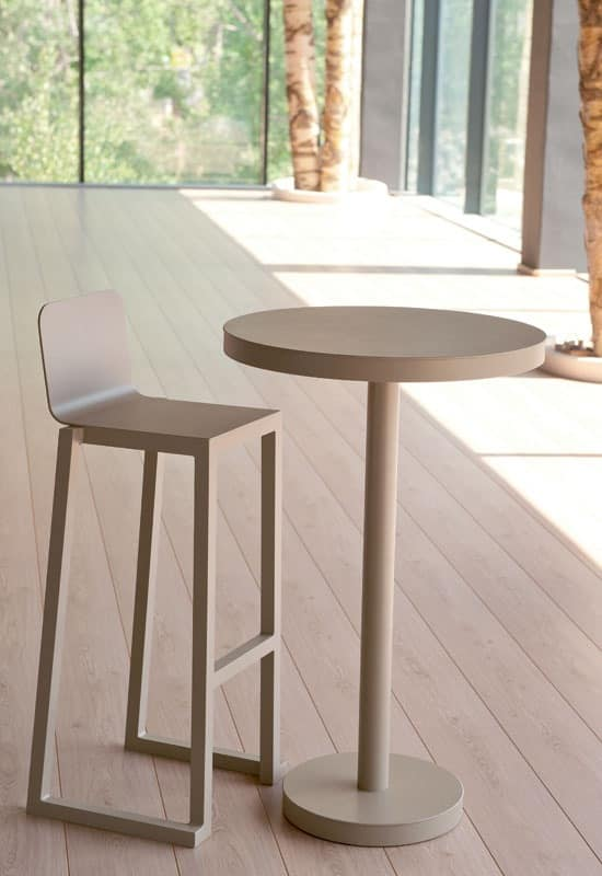 Bell - SG, Stool resistant, lightweight, aluminum, for ice cream parlor