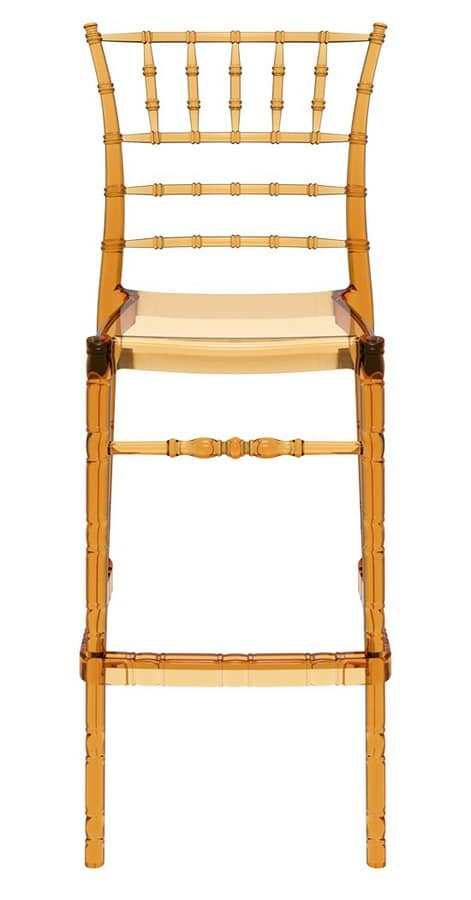Chiavarina 75, Light and stackable polypropylene stool, for bar