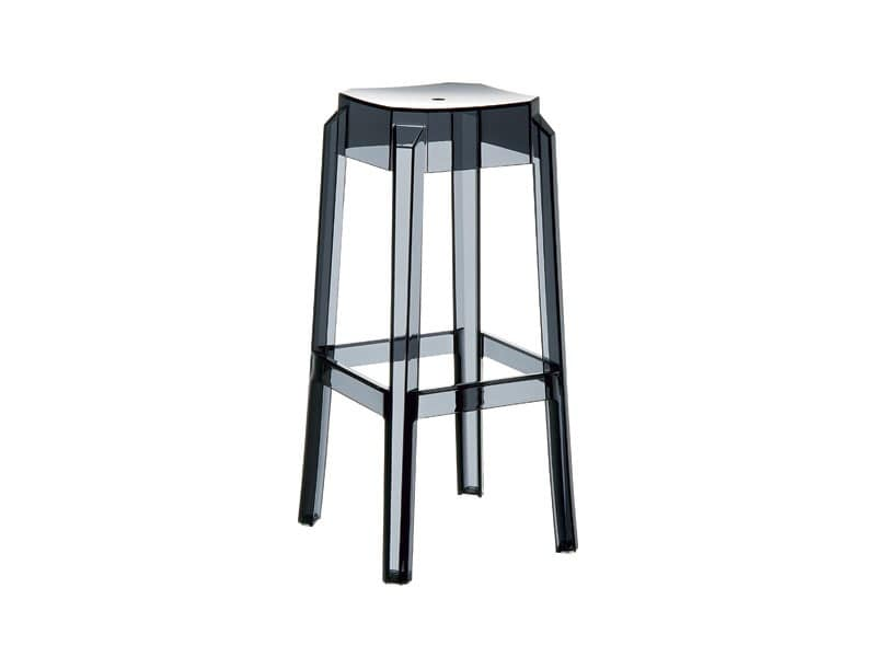 Febe 75, Stackable stool made of plastic, lightweight and durable