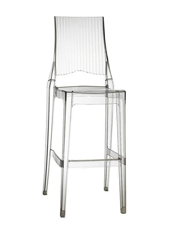 Glenda barstool, Polycarbonate stool, stackable, seat at 74 cm