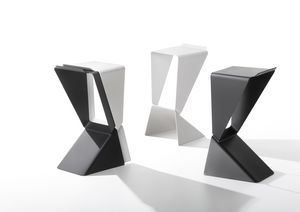 Icon, Stackable stool, with strict lines and sharp corners