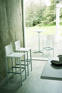 Liberty cod. 26/60, Modern aluminum barstool for restaurants and bars