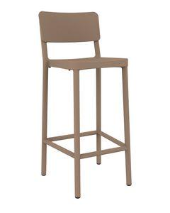 Lisboa - SG1, Polypropylene stool with footrest, durable