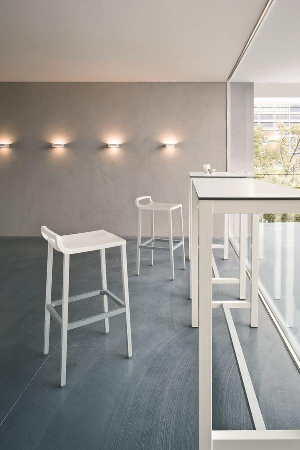 Ofer 60, Modern stool aluminum and polypropylene, for pubs