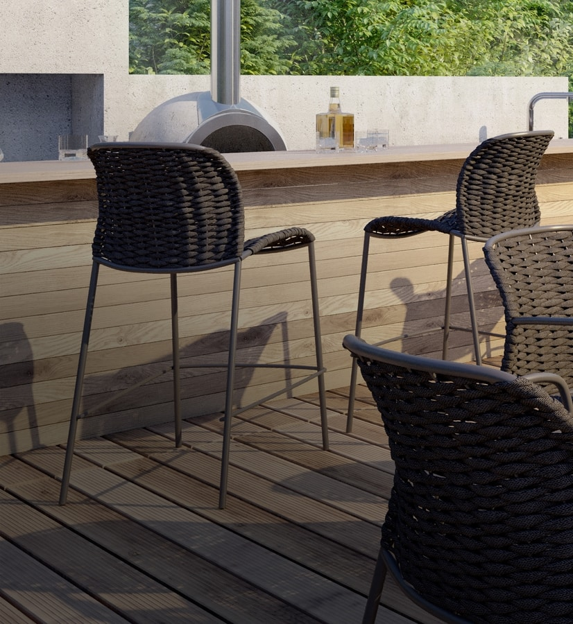 SLICK SG, Woven stool for outdoors