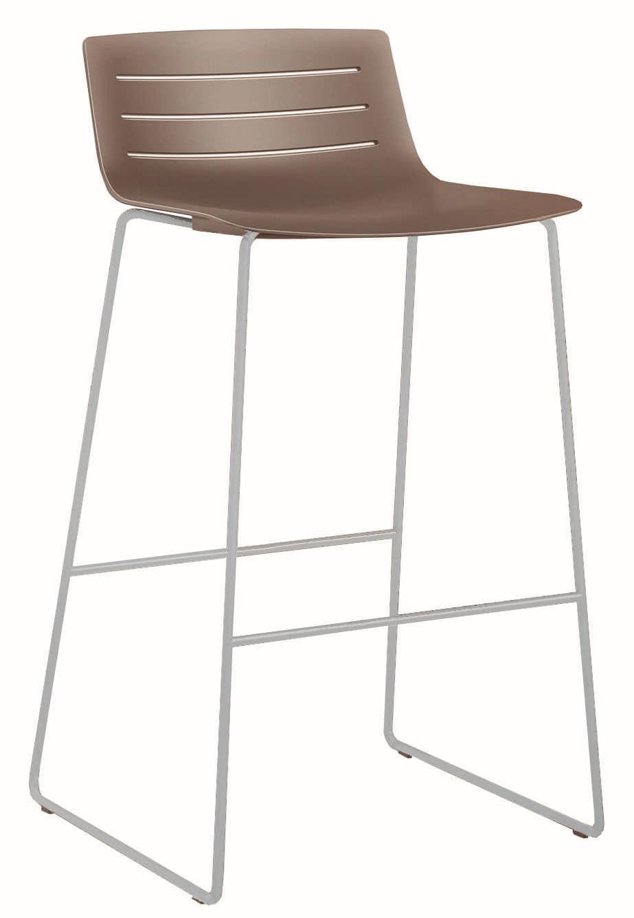 Slim 02SG, Metal and plastic stool for bars and restaurants