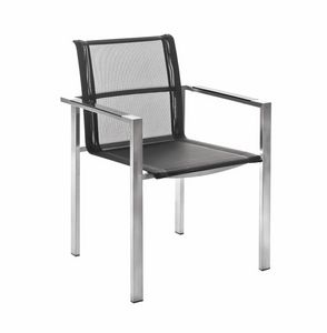 Adamas 5314, Stackable outdoor chair with armrests