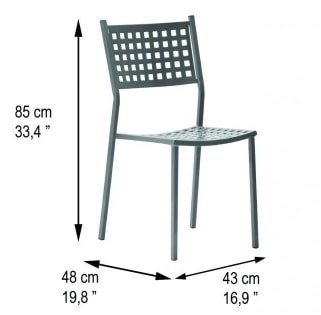 Alice, Outdoor chair in galvanized steel