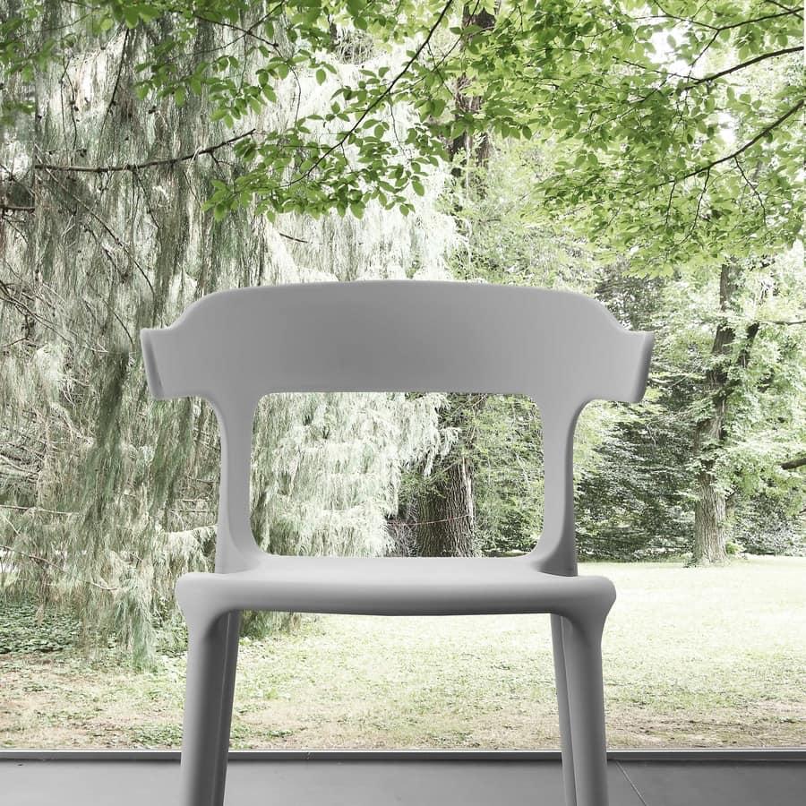 Art. 056 Brera, Polypropylene chair, stackable, for outdoor bar
