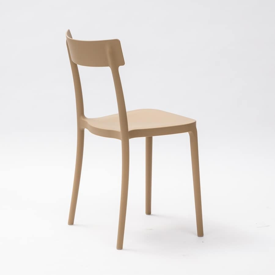 Art. 077 Corsocomo, Chair elegantly designed, lightweight and stackable