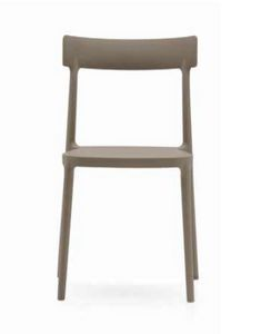Ava, Lightweight polypropylene chair, stackable