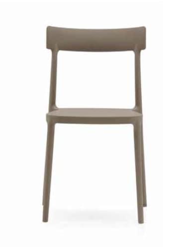 Ava, Lightweight polypropylene chair, stackable