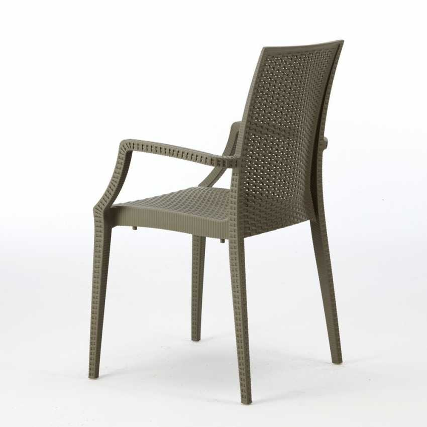Bar chair with armrests garden – S6625, Chair with armrests, stackable, economic, for bars