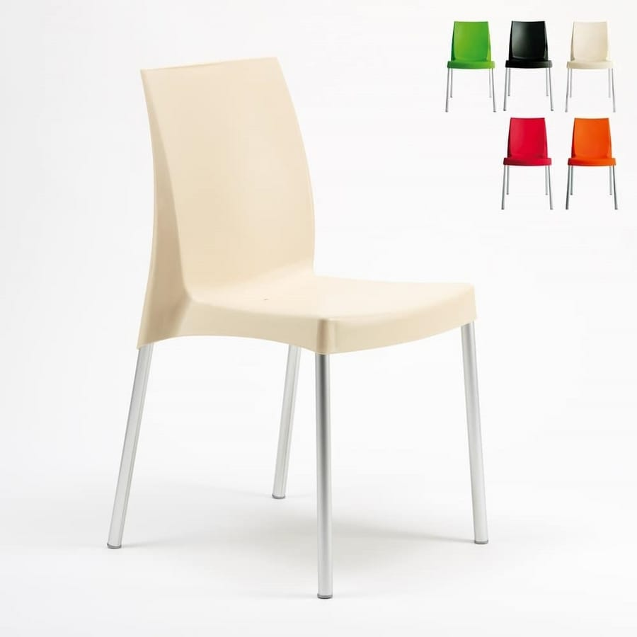 Plastic Chair With Aluminum Legs Idfdesign
