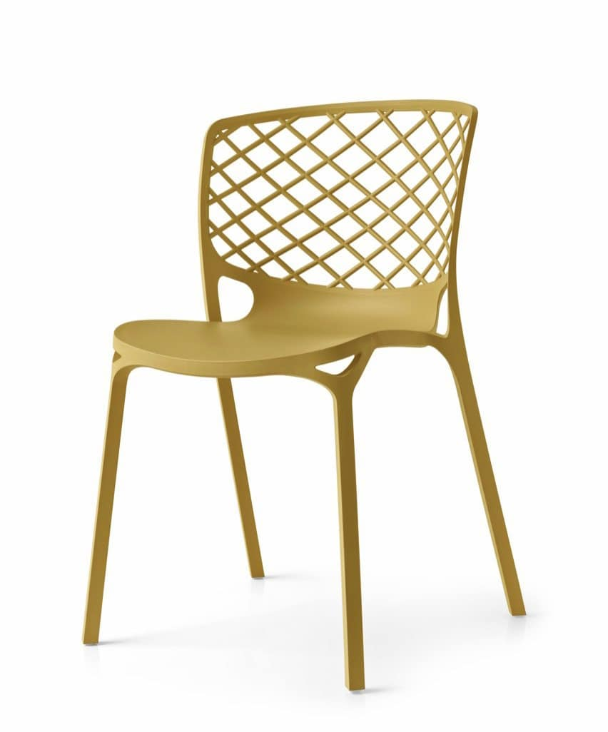 Audace, Stackable chair in nylon, light and durable