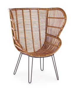 Carlita, Rattan chair with high back