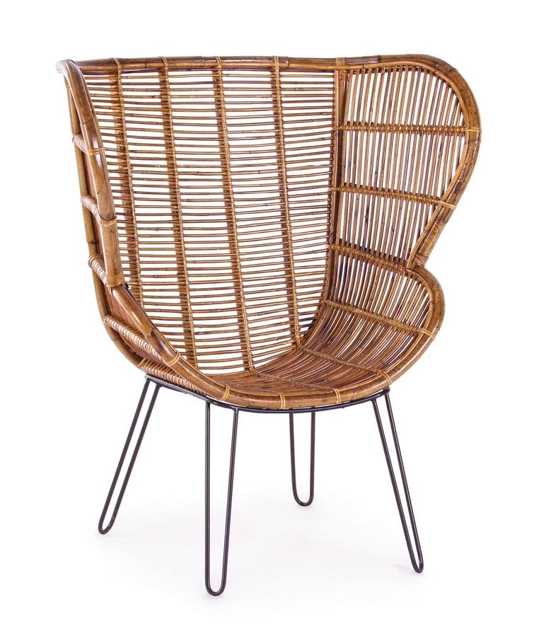 Carlita, Rattan chair with high back