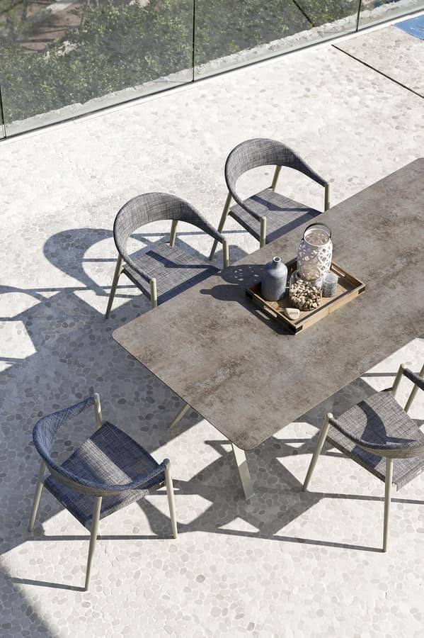 Clever armchair, Aluminum chair, lightweight and confortable, for outdoor