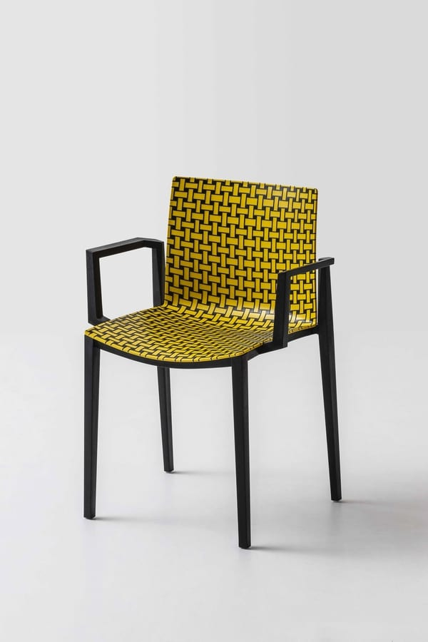 Clipperton Blend B, Stackable chair with raised texture