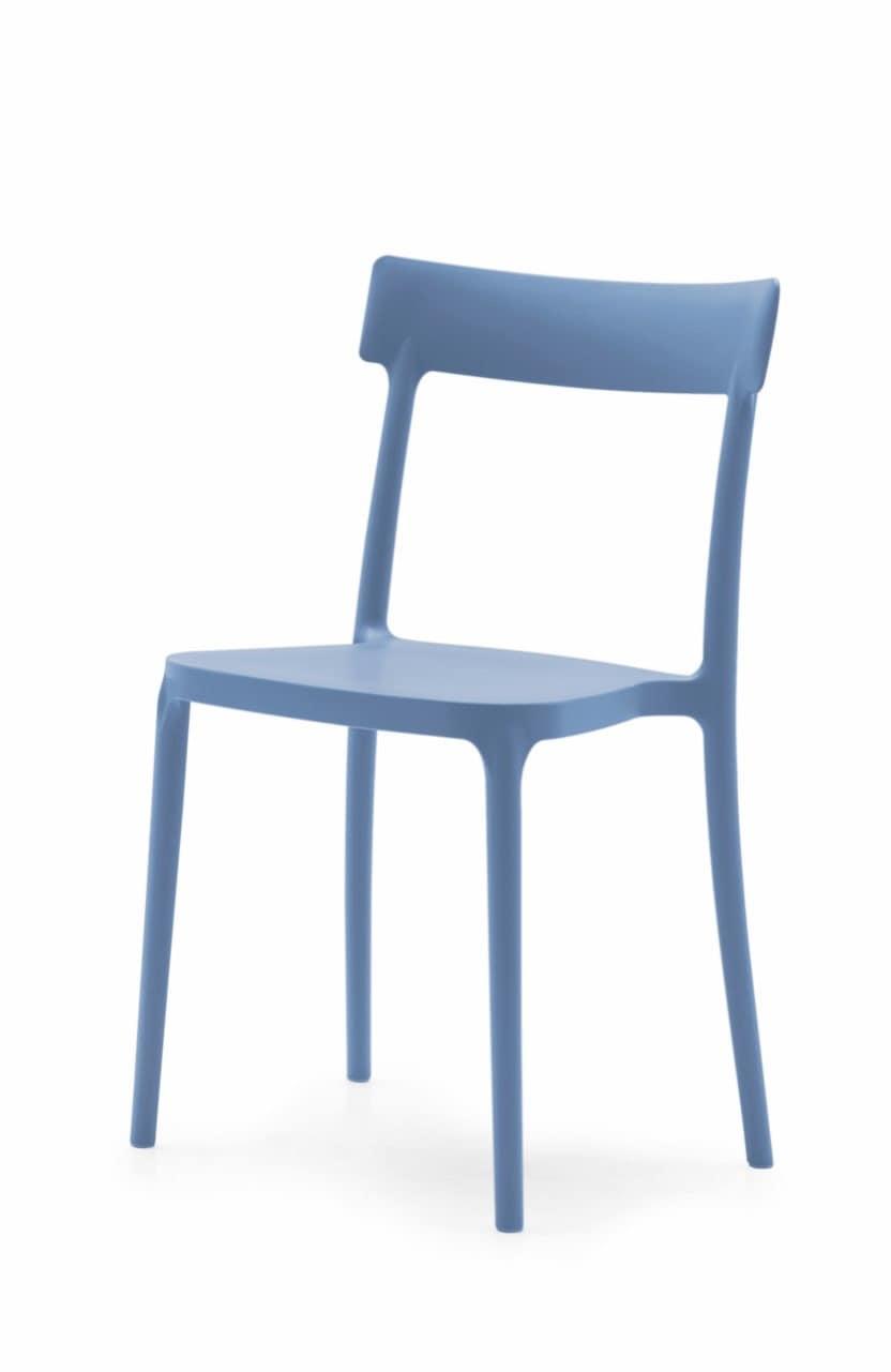 Delta, Modern chair in polypropylene, anti-stain