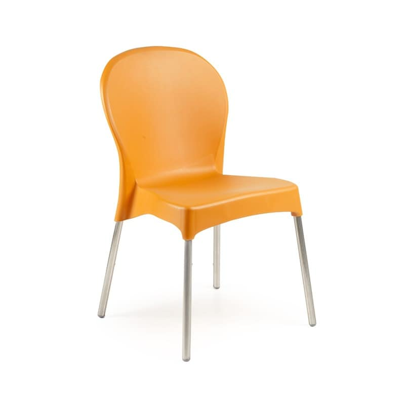 Diana, Stackable chair, colorful, for garden and hotel