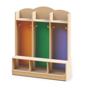 Dressing cabinets, Locker room for nurseries and kindergartens, made with non-toxic paints, different colors