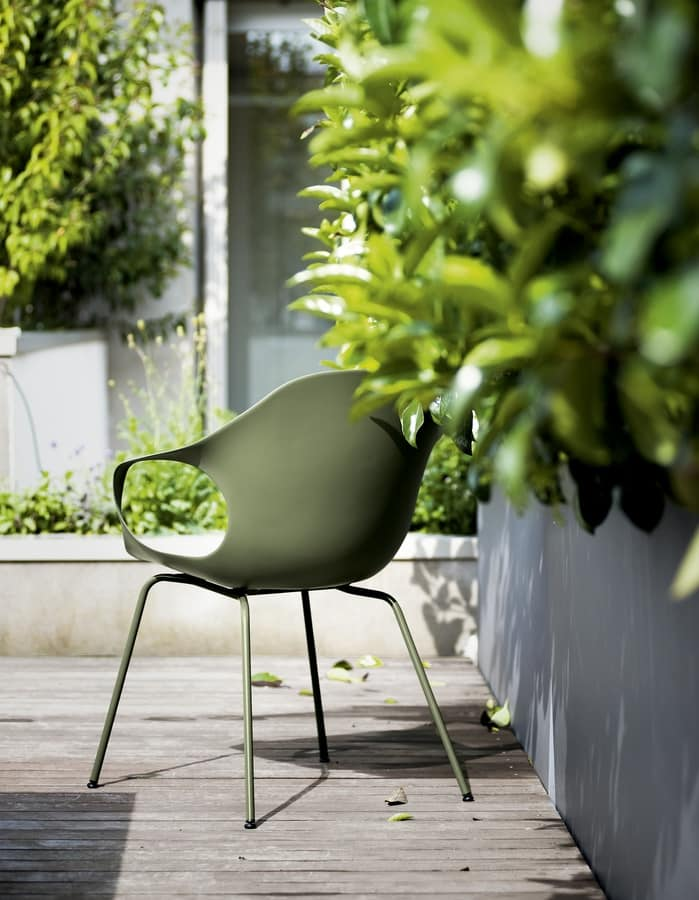 Elephant Four Legs Outdoor, Chair with plastic armrests, for use conctract