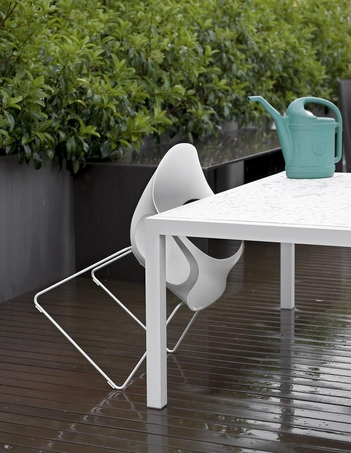 Elephant Slide Base Outdoor, Polyurethane chair with slide structure in painted steel