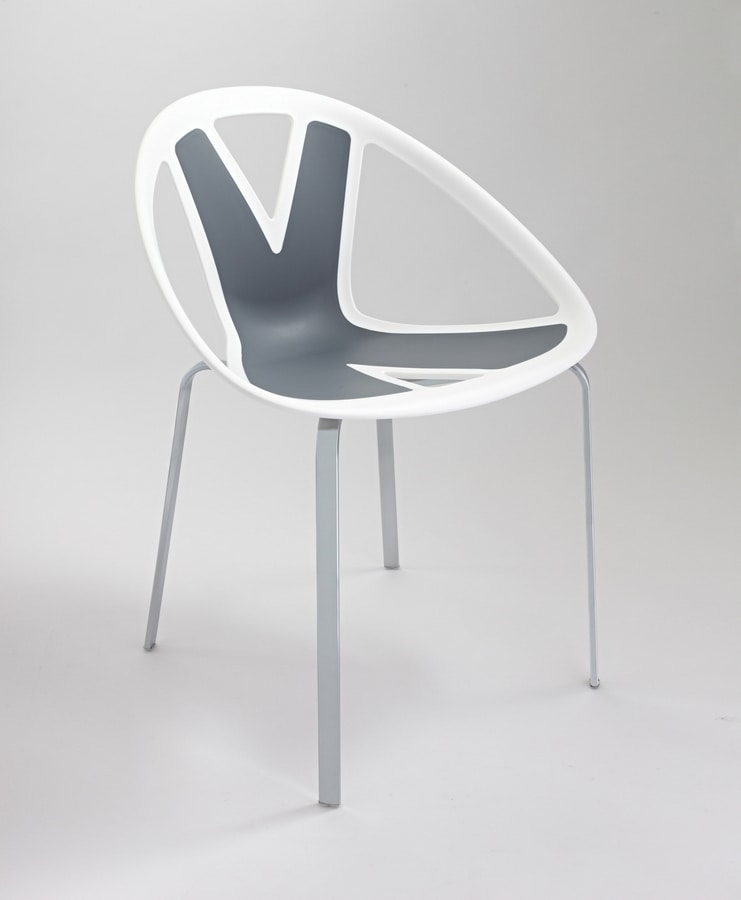 Extreme cod. 83, Chair with seat in plastic material, for external