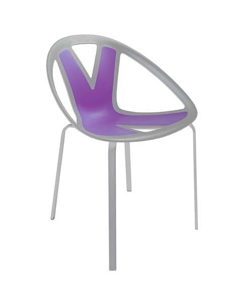 Extreme cod. 84, Chair with seat in plastic material, for external