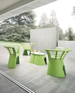 Flower cod. 66, Original polymer chair for gardens and ice cream parlors