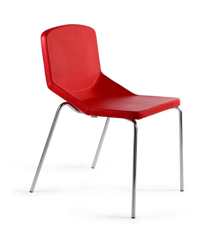 Formula40 4g fabric, Metal chair padded, comfortable and cozy, usable in any context