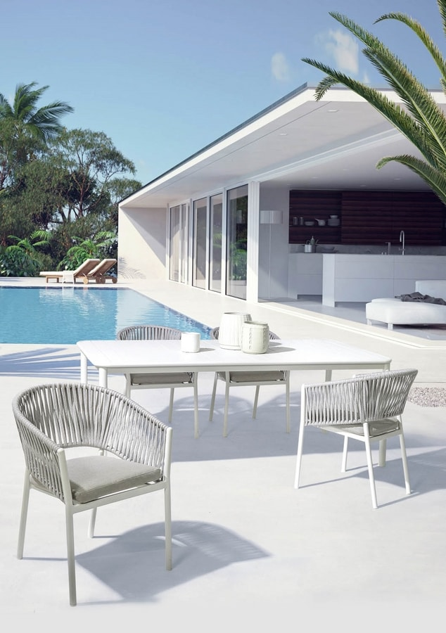 GAIA, Outdoor chair with wrapping backrest
