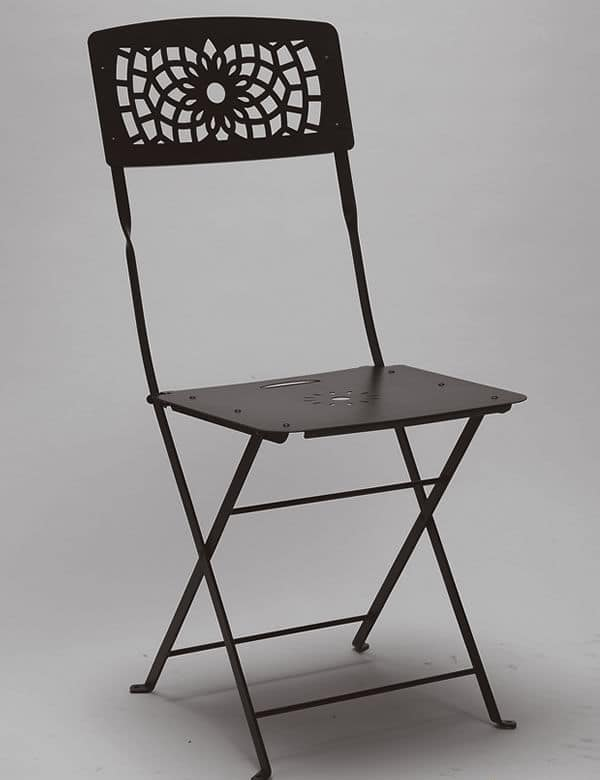 Gala, Folding steel chair for garden