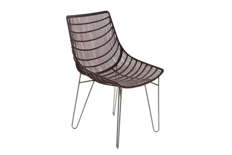 Infinity 5311, Chair woven with Canax suitable for outdoor use