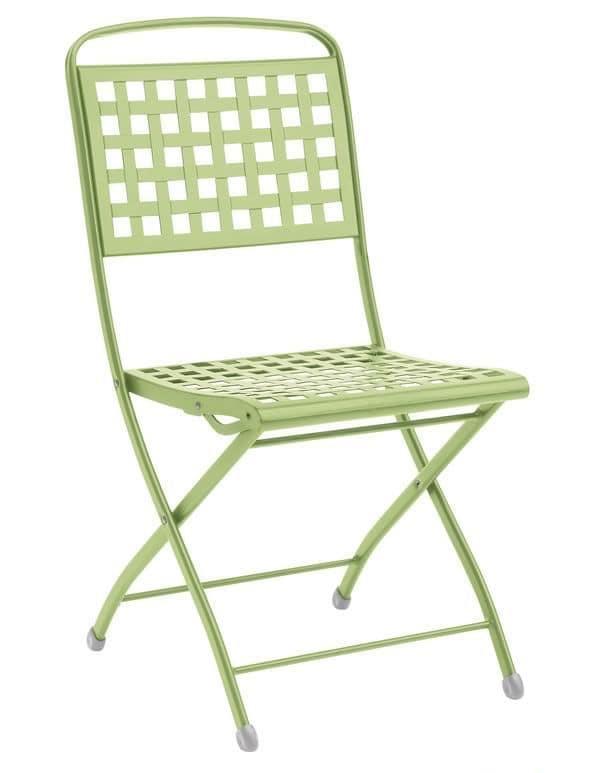 Isabella, Folding steel chair, for garden
