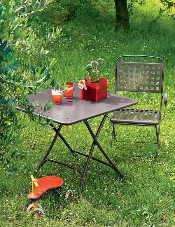Isabella P, Folding steel chair, for garden