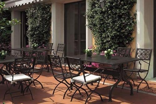 Isotta/P, Folding steel chair, for garden