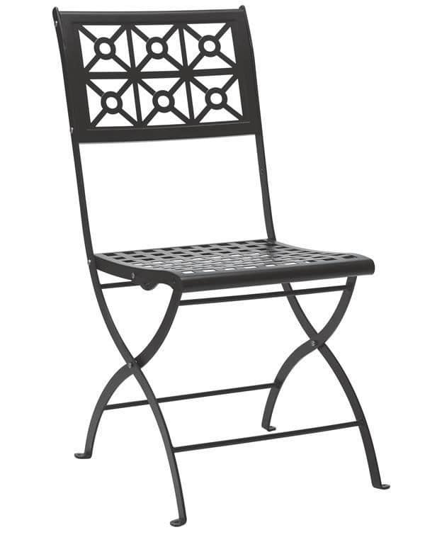 Isotta, Folding steel chair, for garden
