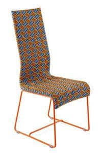 Kente chair, Chair with high back, hand woven, for outdoor use