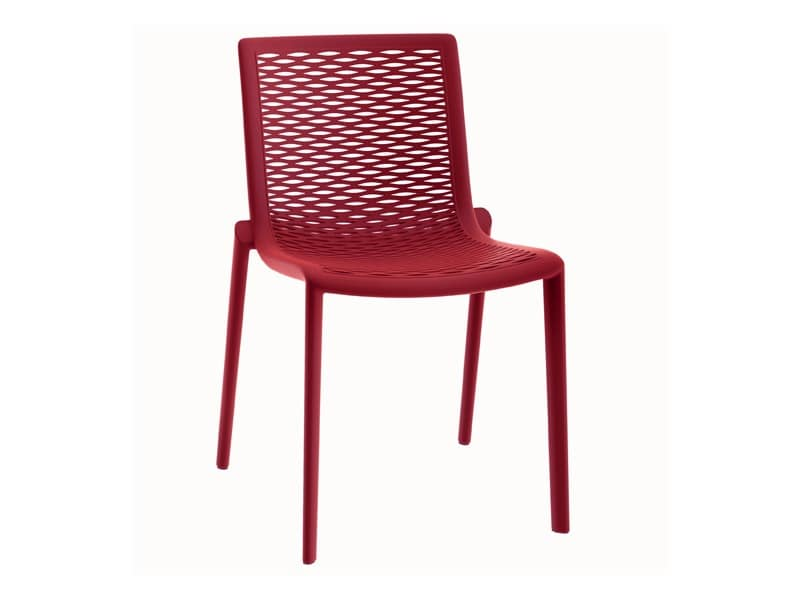 Kiranet-S, Modern plastic chair, stackable, for pizzeria
